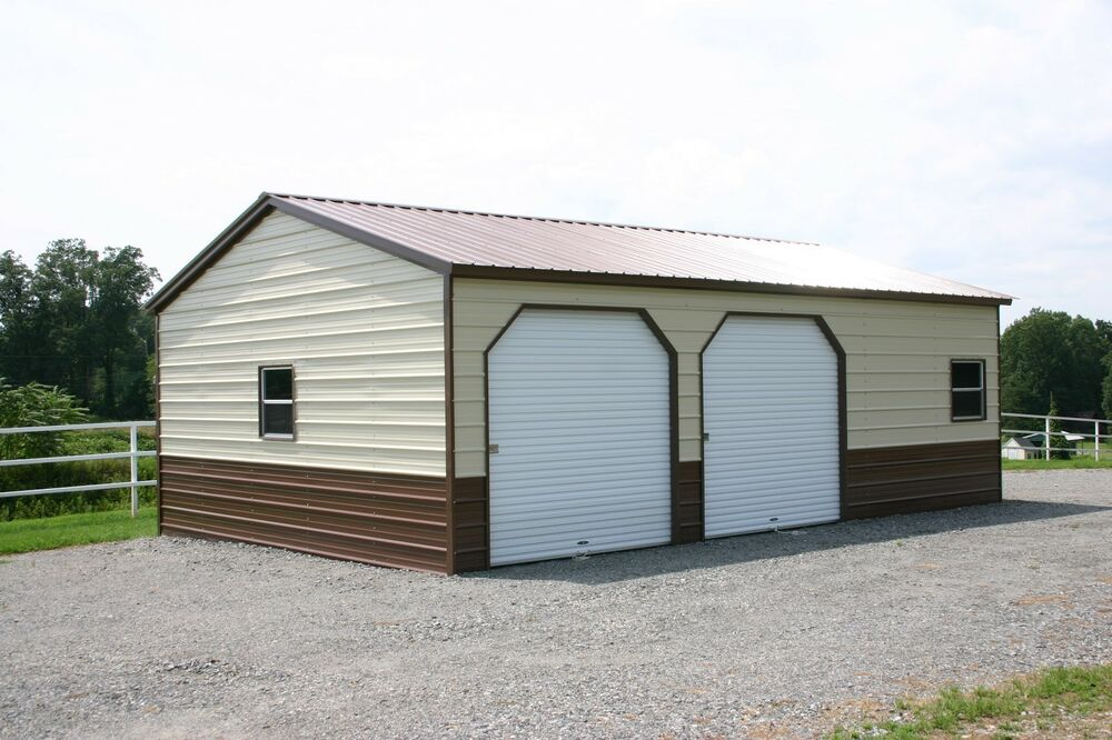 22 x 31 x 9 metal building delivered and installed for 26 x 36 garage