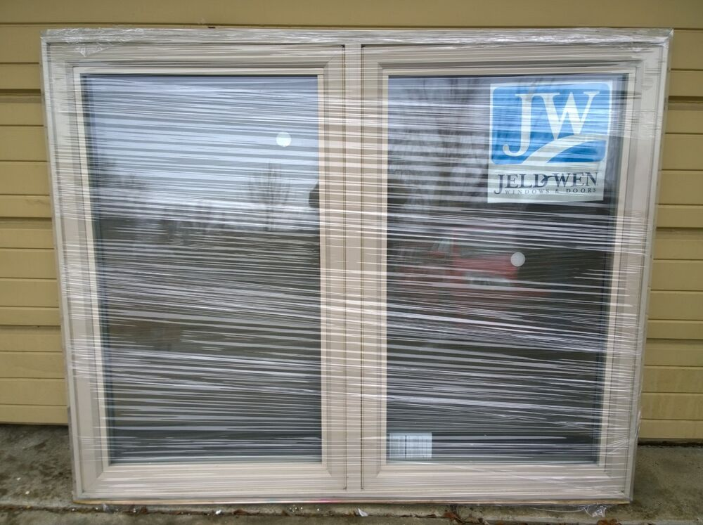 Brand new nice big jeld wen vinyl double casement window for Buy jeld wen windows online
