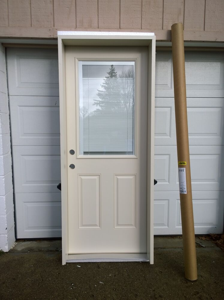 New nice 32 x80 fiberglass exterior door w 1 lite glass for 32x80 storm door