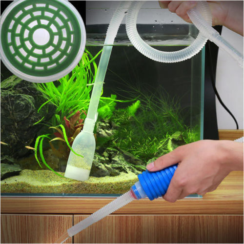 Aquarium pump cleaning vacuum water change gravel cleaner for How to clean fish tank rocks
