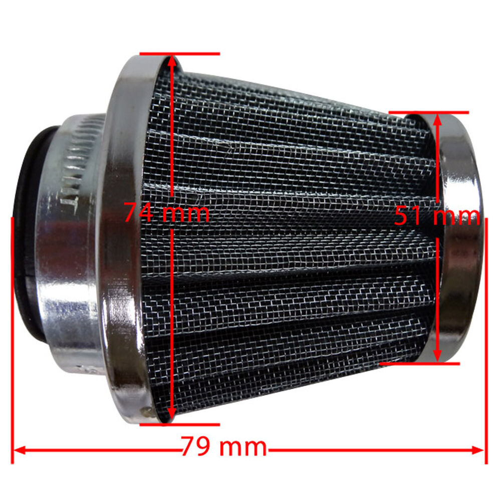 Moped Air Filter : Performance mm air filter for chinese gy cc moped