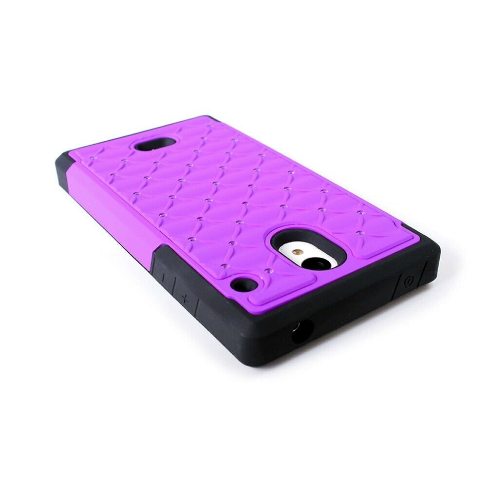 Details about For Sharp AQUOS Crystal Case - Purple Hybrid Diamond Bling  Skin Hard Phone Cover 7dbf439613de