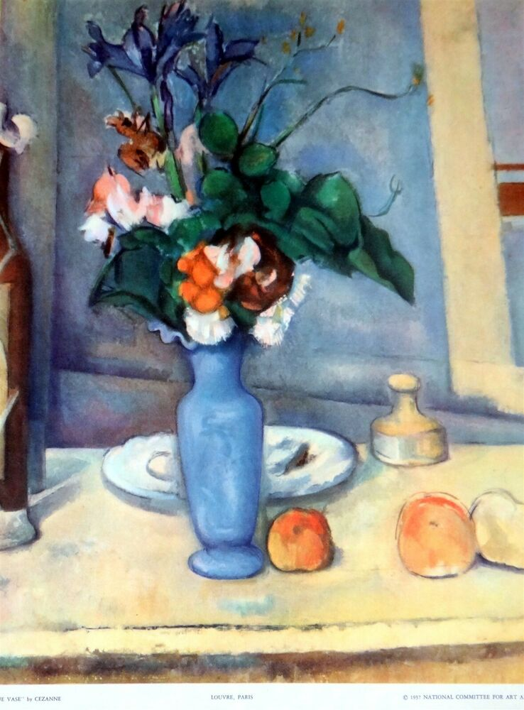 The Blue Vase By Cezanne Lithograph Print Circa 1937 Ebay