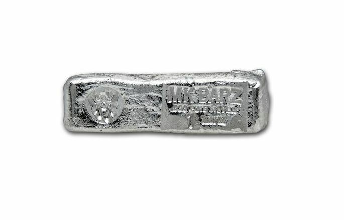 "1 tr//oz MK BarZ /""Shark Tooth/"".999 Fine Silver HAND POURED Bar"
