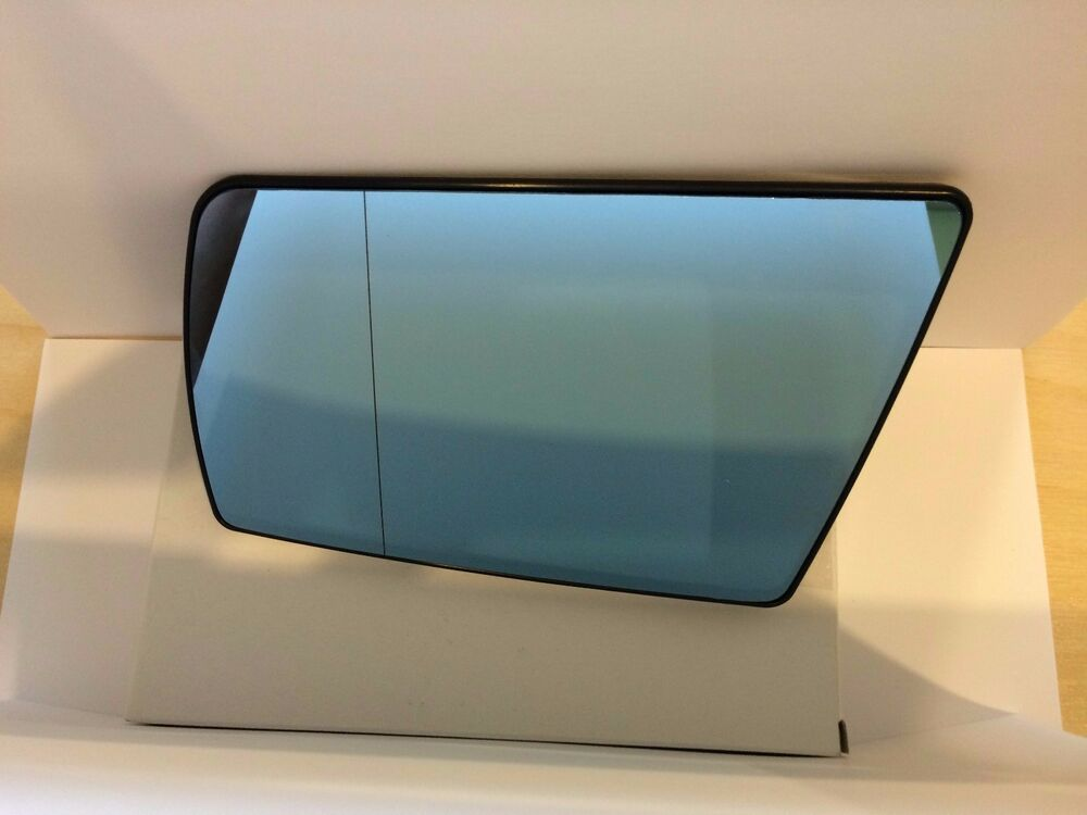 Wing blue tinted side mirror glass heated left mercedes for Mercedes benz c300 side mirror glass