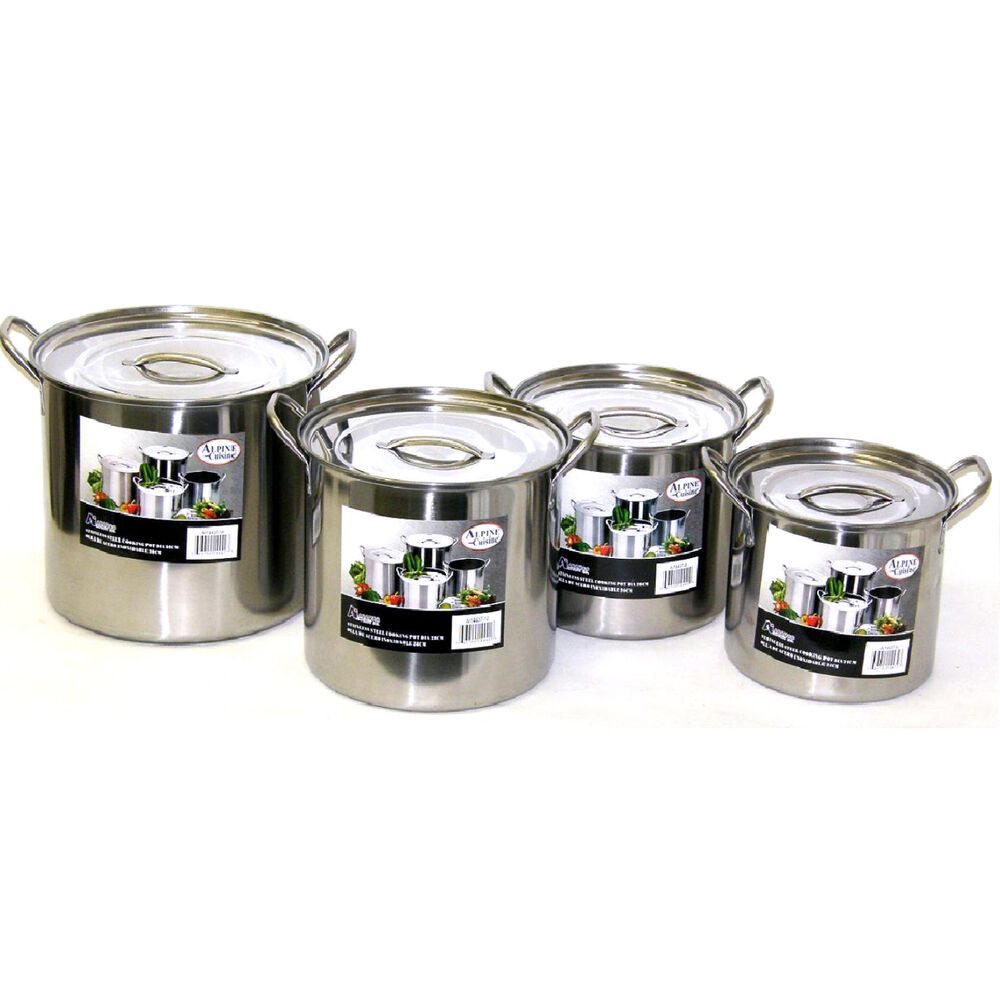 new stainless steel 8 stock pot set 4 pots nests for