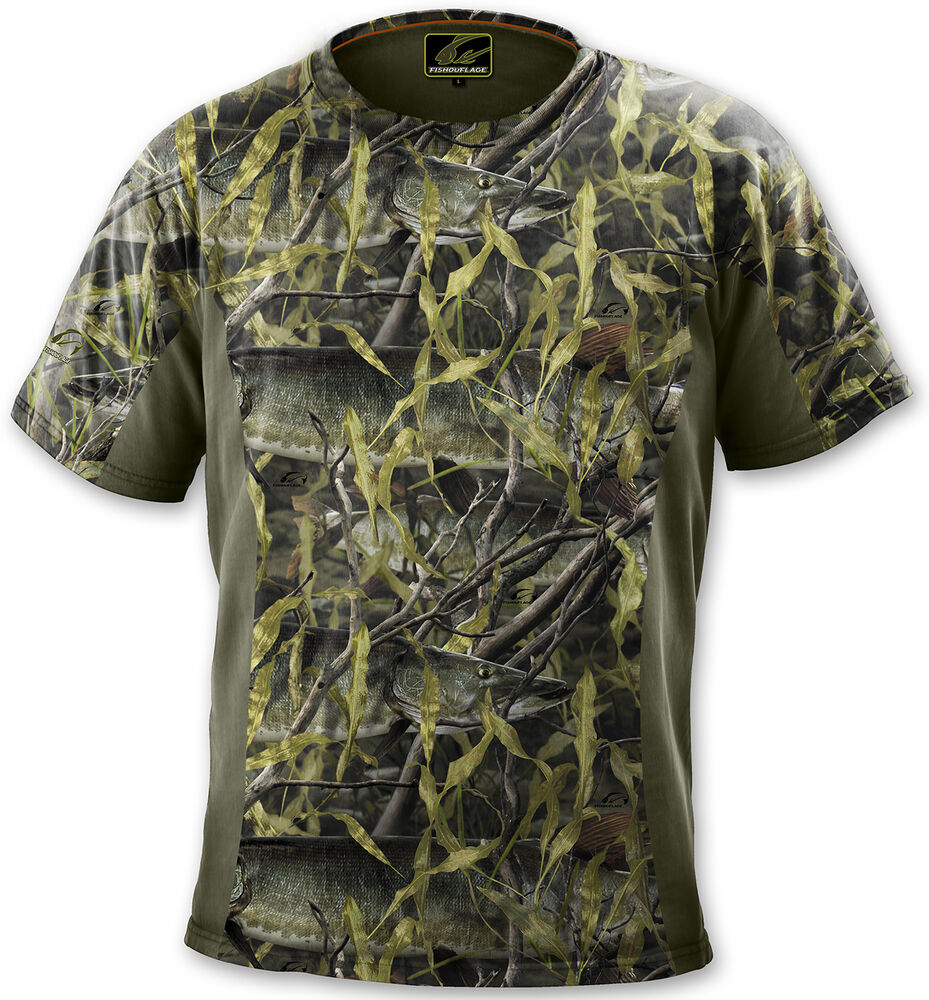 Fishouflage performance cotton musky fishing camo s s t for Camo fishing shirt
