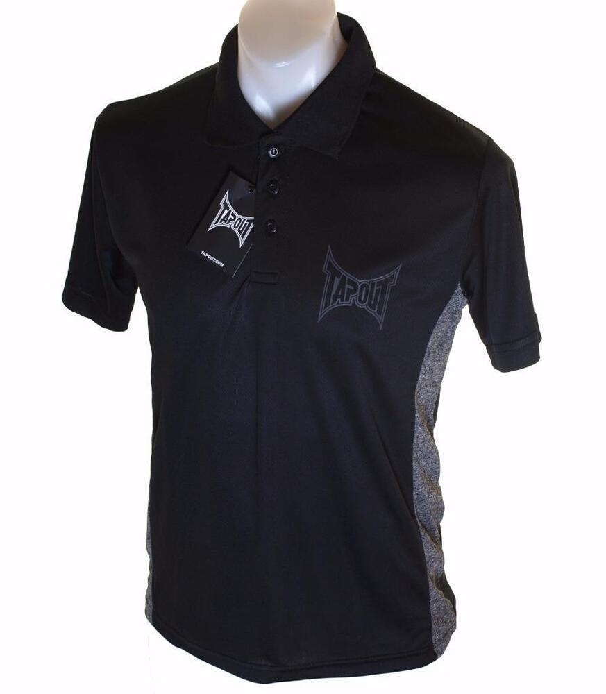 ea9958da Bnwt Authentic Men's Tapout Short Sleeve Polo Shirt New Black MMA UFC | eBay