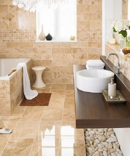 18x18 tile in small bathroom cappuccino polished marble 18x18 marble tile floor wall 4 21767