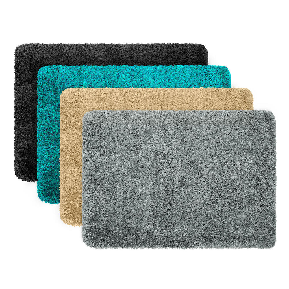 Home Circle Memory Foam Bath Mat Rug 17 X 24 Inch, Non