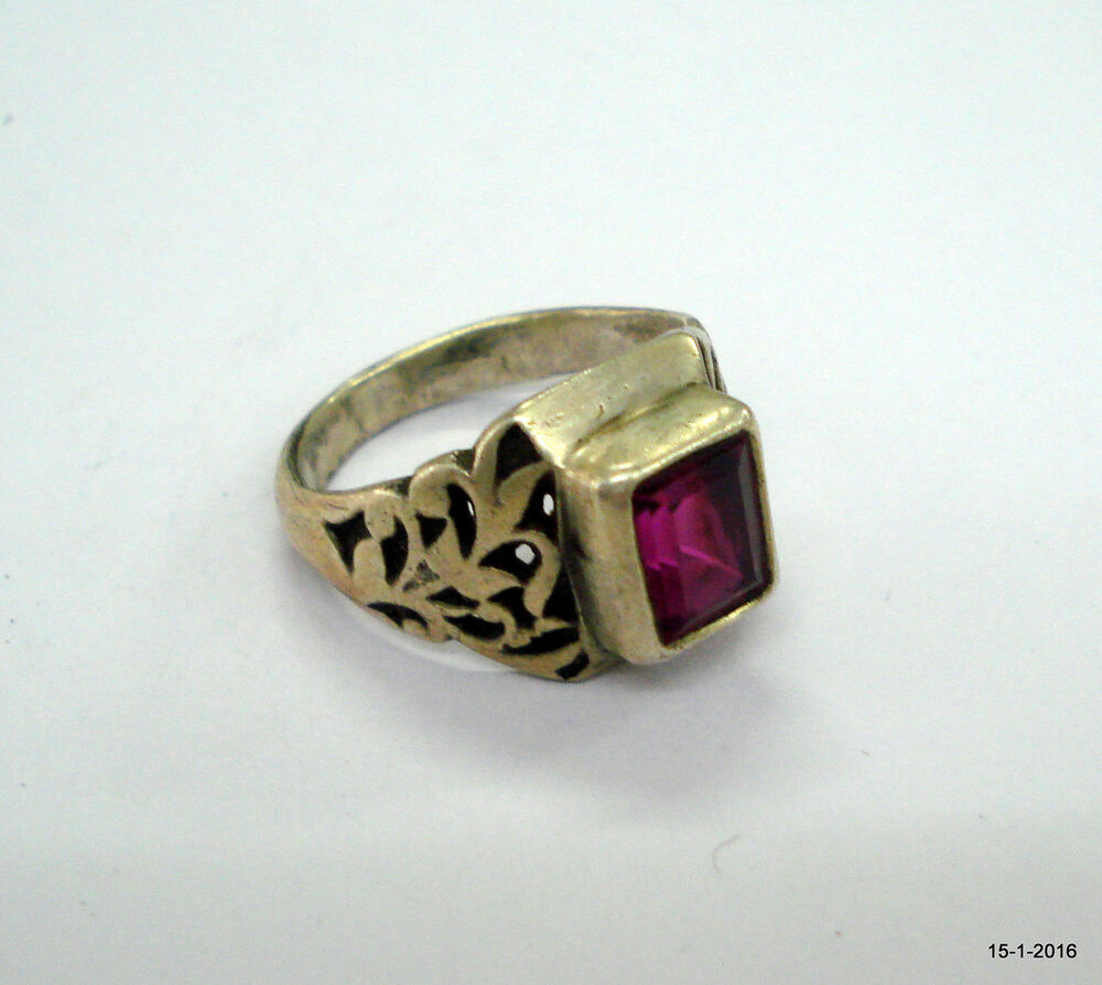 vintage antique tribal old silver ring pink stone ring handmade ring | eBay