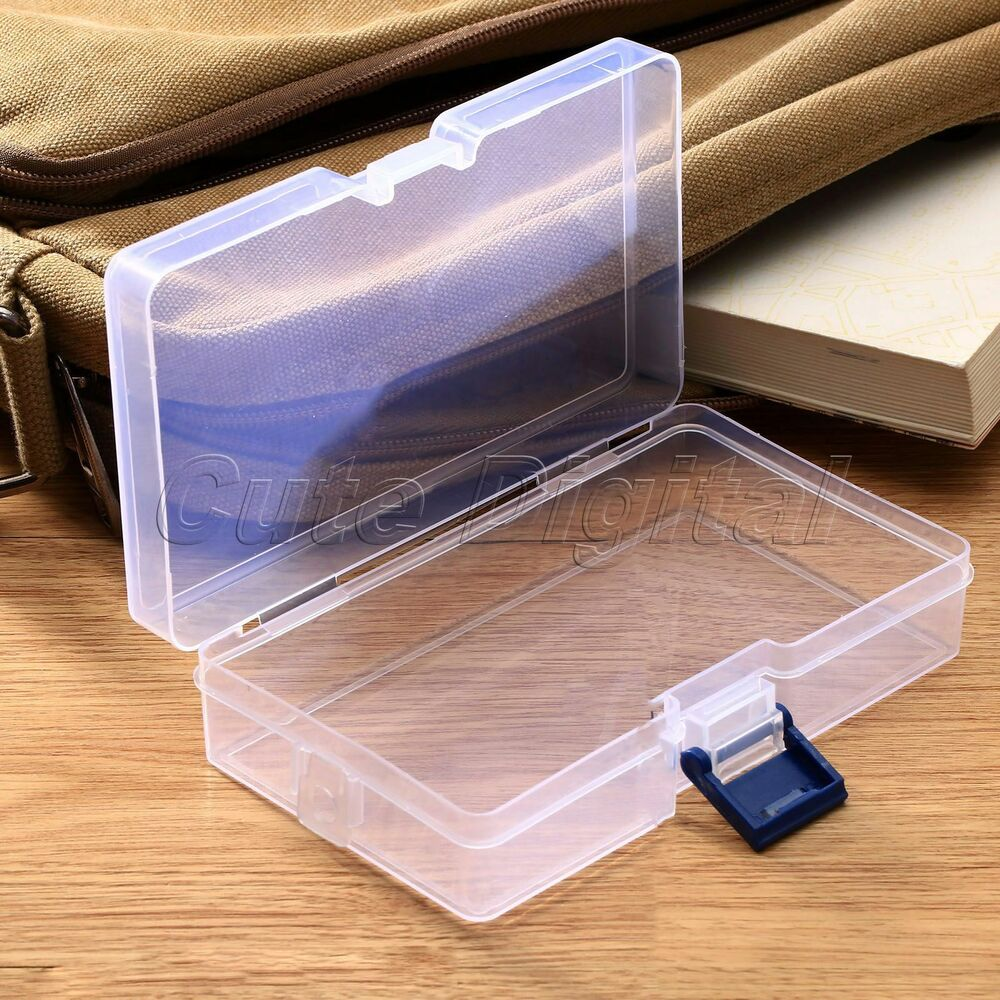 plastic transparent storage box jewelry craft nail art. Black Bedroom Furniture Sets. Home Design Ideas