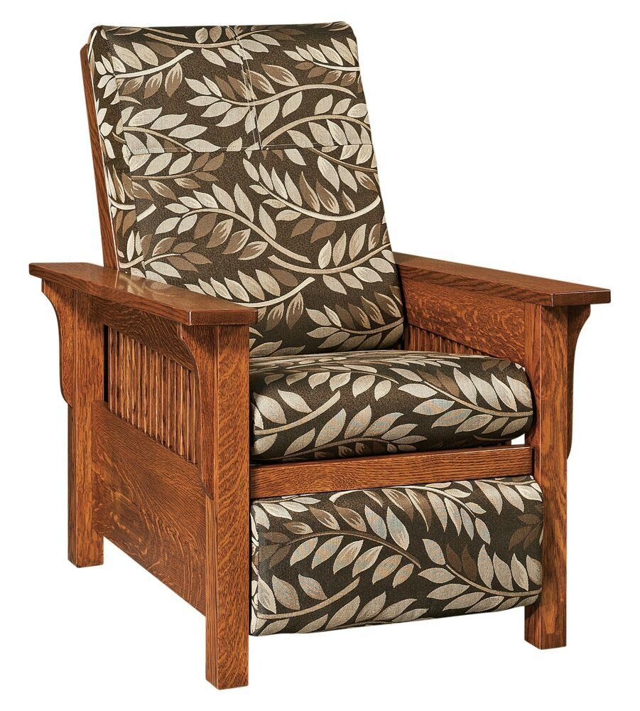 Amish Mission Arts Amp Crafts Landmark Recliner Accent Chair