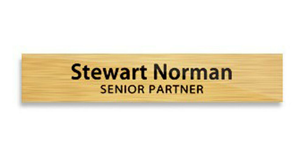 Name Plate Custom Brushed Gold Desk Name Plate With Your
