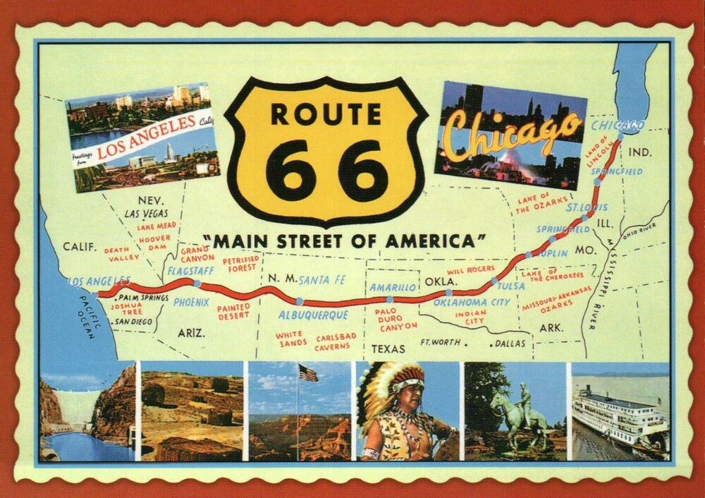 Route 66 Main Street Of America Highway Chicago To Los