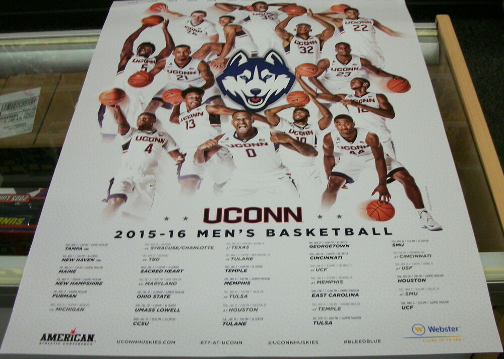 2015-16 UCONN MENS BASKETBALL POSTER | eBay