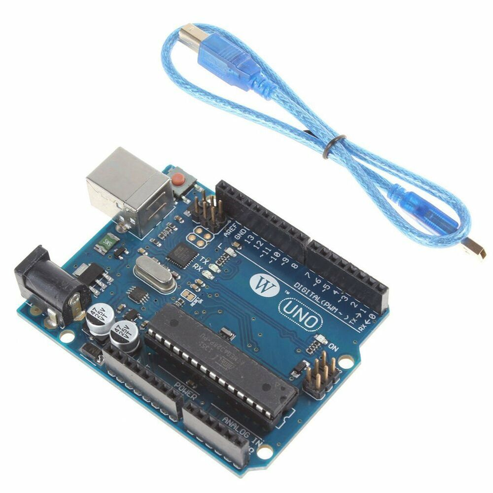 Uno r atmega p u version board free usb cable