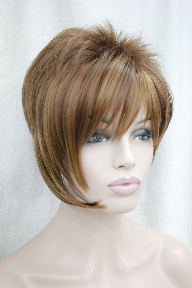 Asymmetrical Medium Auburn Mix Strawberry Blonde Short