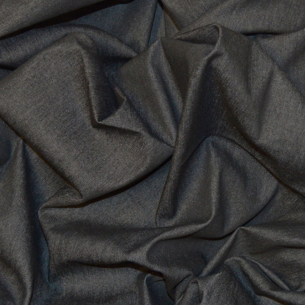 8oz light weight stretch black denim cotton elastane jeans fabric by the metre ebay. Black Bedroom Furniture Sets. Home Design Ideas