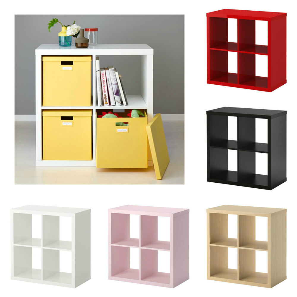Ikea kallax cube storage bookcase shelf shelving units 4 cubes square book case ebay - Kallax 4 cases ...