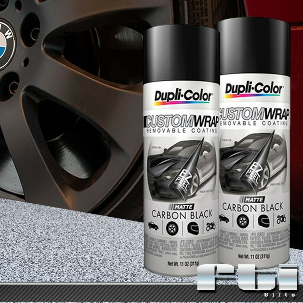 2 Dupli Color Matte Carbon Black Custom Wrap Removable Spray Paint 11oz 4 Rims Ebay