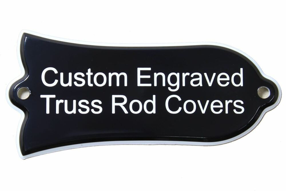 custom engraved truss rod cover fits most gibson guitars les paul sg and etc ebay. Black Bedroom Furniture Sets. Home Design Ideas