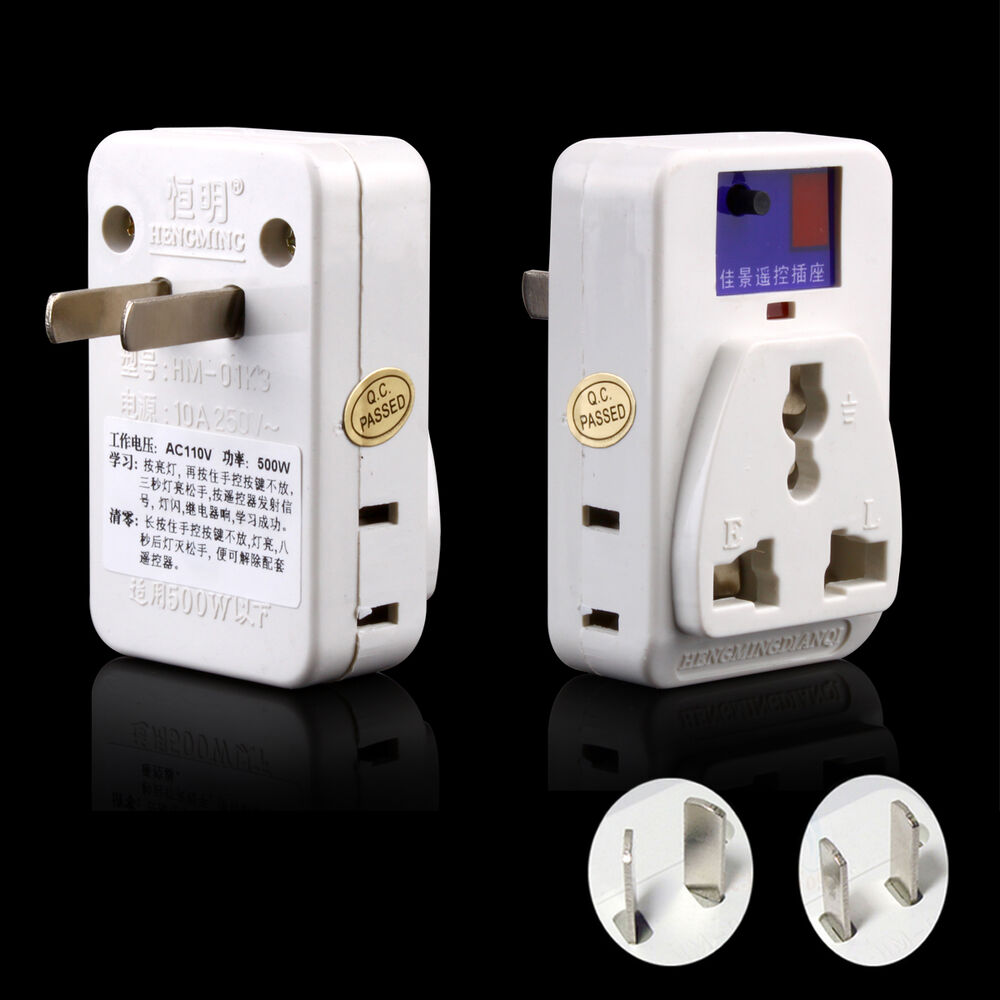 Remote Control Outdoor Wall Lights : Wireless Remote Control Electrical Power Outlet Light Switch Plug Socket US & AU eBay