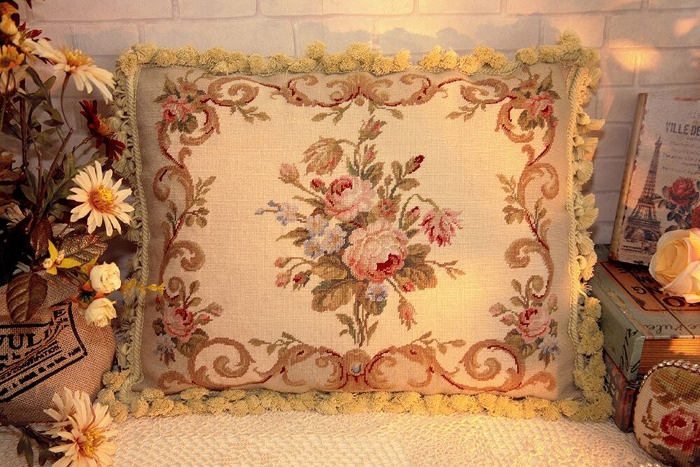 20 European Country Home Decor Shabby Floral Wool