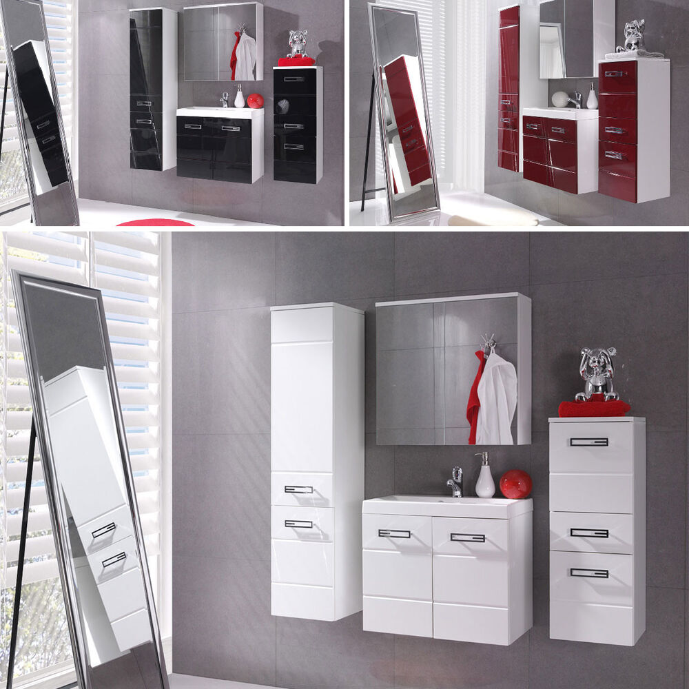 elegante badm bel set badezimmer amelia 5tlg mit waschbecken spiegelschrank ebay. Black Bedroom Furniture Sets. Home Design Ideas