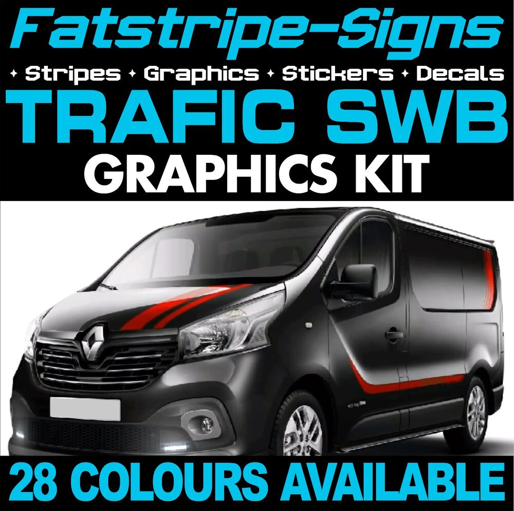 Renault Trafic Mk3 Swb Graphics Stickers Decals Stripes