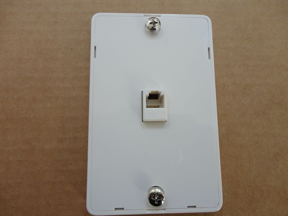 S L on Surface Mount Telephone Wall Jack
