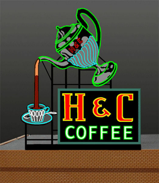 h c coffee animated billboard sign for ho o s scale miller. Black Bedroom Furniture Sets. Home Design Ideas