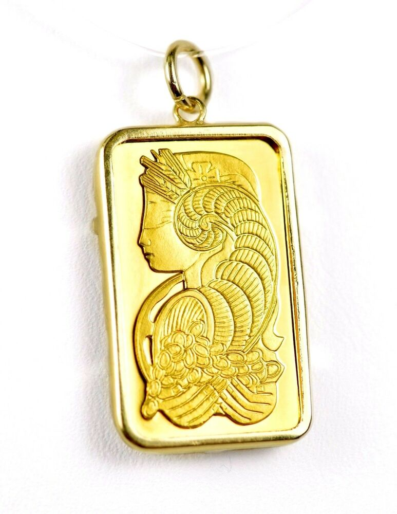 Pamp Suisse Lady Fortuna 5g 999 9 Fine Gold Bar In 14k