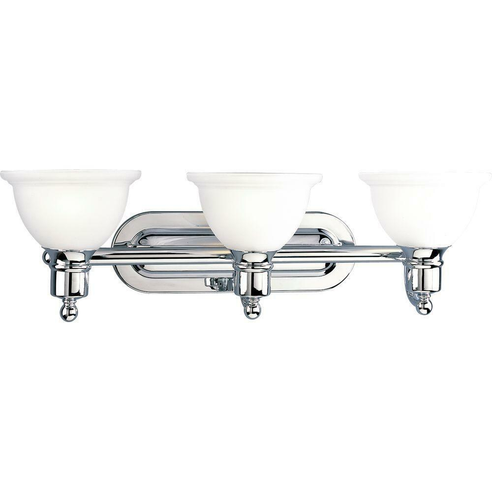 Progress Lighting Madison 3lt Polished Chrome Vanity Fixture P3163-15 eBay