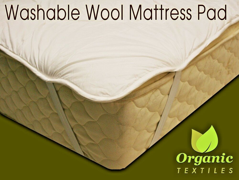 Natural Wool Mattress Pad W Organic Cotton Cover All