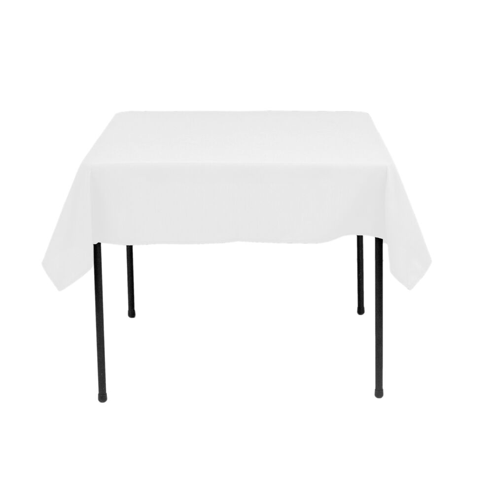 90 108 Inch Square White Square Table polyester Wedding