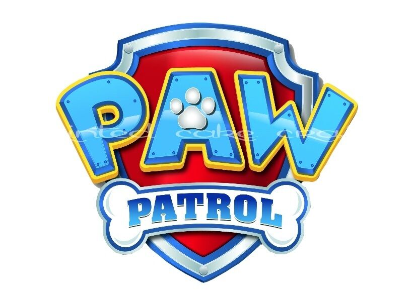 Edible Paw Patrol Logo 6 Quot Icing Cake Topper Fab For Your