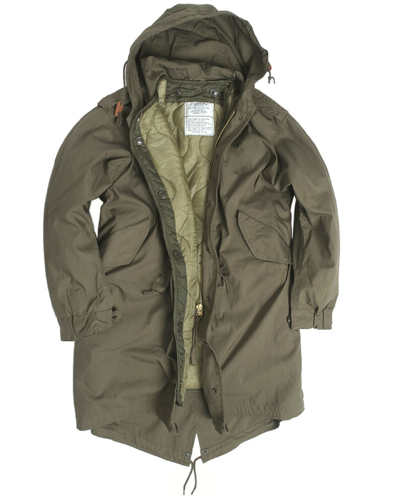 US Army Olive Drab M51 Fishtail Winter Shell Hooded Parka ...