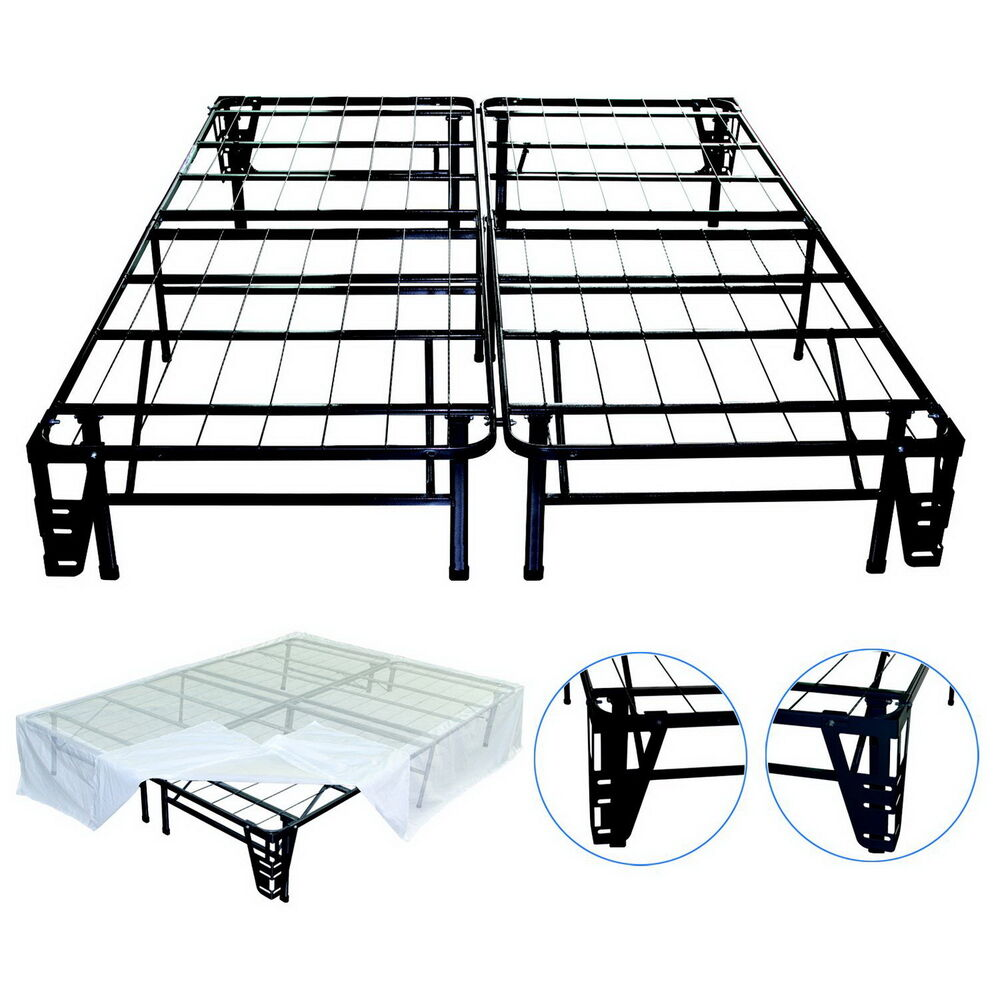 New full size steel bed frame foundation night therapy for New bed frame