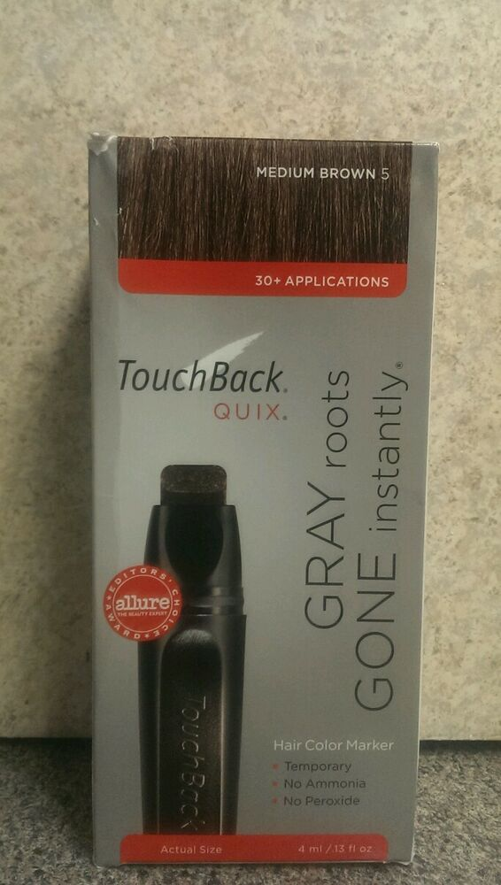 Touch Back Quix Temporary Hair Color Marker 5 Medium Brown 30