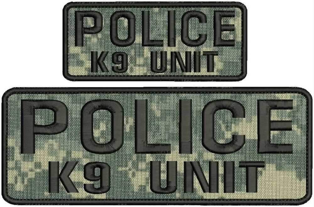 Police k9 unit velcro patches