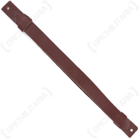 img-Repro WW2 American Officers Visor Cap Brown Leather Chin Straps - Strap US New