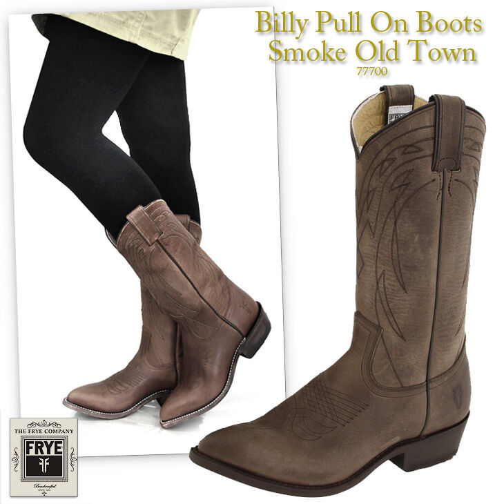 Frye 77700 Billy Pull On Smoke Old Town Women Boots New