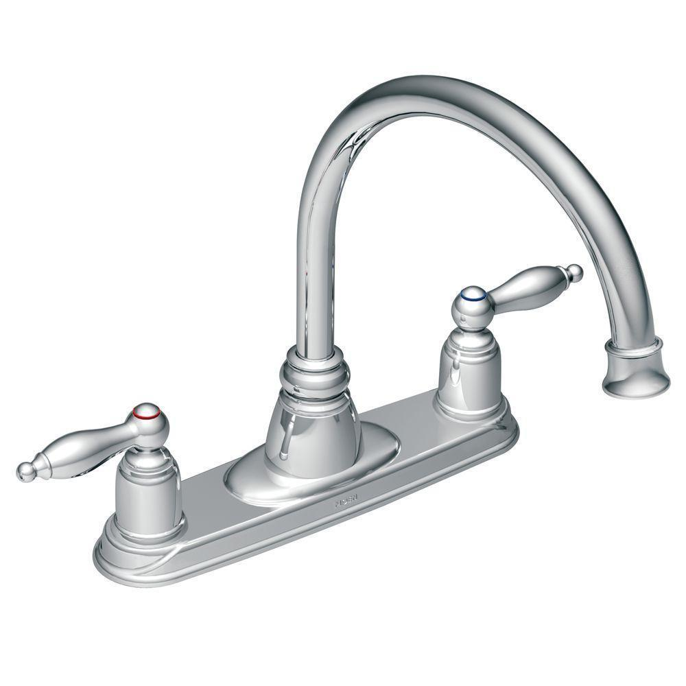 MOEN 7902 Castleby 2-Handle Kitchen Faucet In Chrome # 1