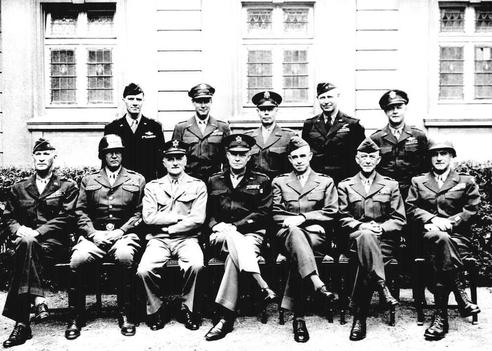 WW2 - 1945 -12 American Generals Incl. Dwight D. Eisenhower-George S ...