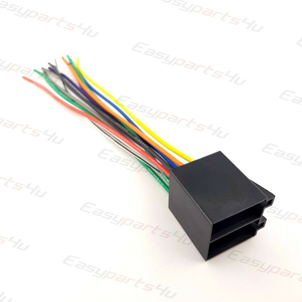 Universal Iso Car Radio Adapter Female Socket Stereo Wire Loom Harness Duetsch Component Motorcycle Wiring Connectors Connector Ebay