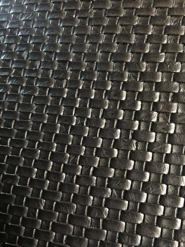 Small Basket Weave Tile Vinyl Upholstery Faux Leather