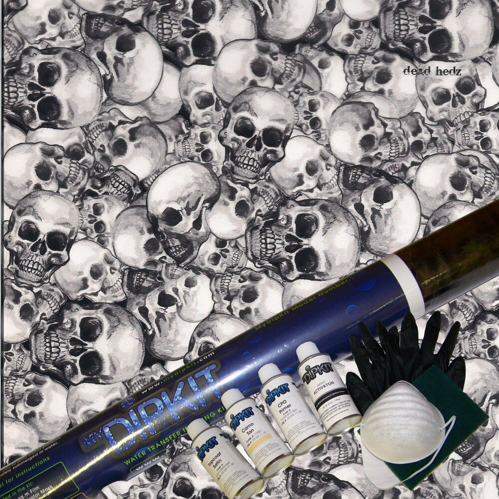 hydrographics dip kit activator water transfer print skull. Black Bedroom Furniture Sets. Home Design Ideas