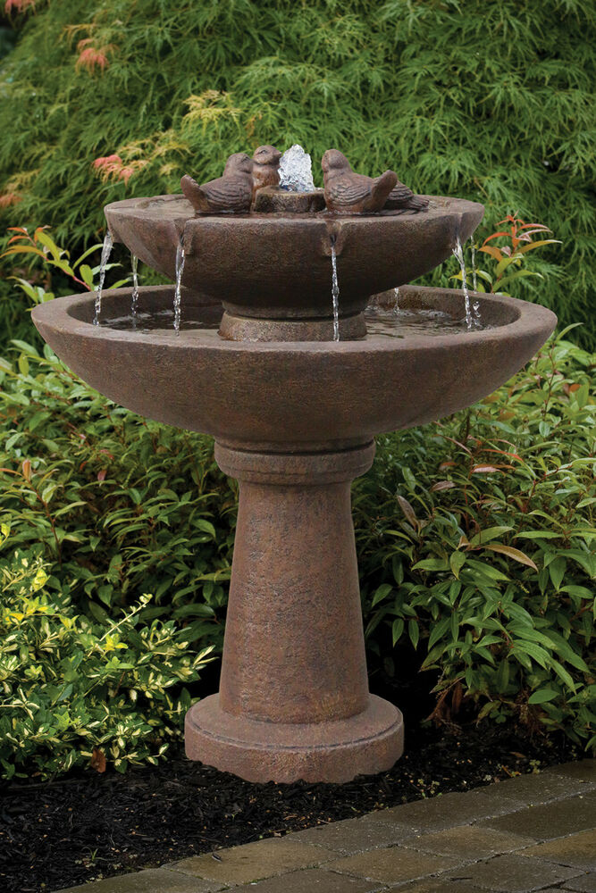 39 Quot Tranquility Spill Fountain With Birds Ebay