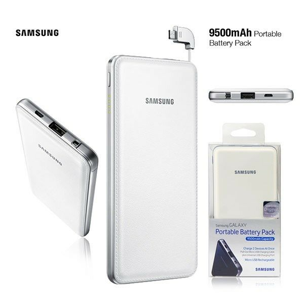 samsung portable charger battery 9500mah micro cable. Black Bedroom Furniture Sets. Home Design Ideas